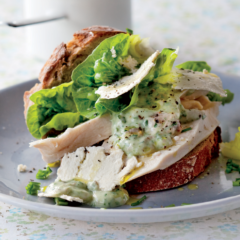 The healthy chicken sandwich with a Caesar twist