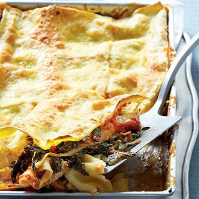 Goat's cheese and spinach bake