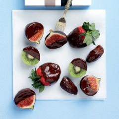 Fresh fruit dipped in luxury chocolate