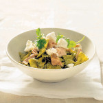 Fresh tuna coriander and goats cheese pasta