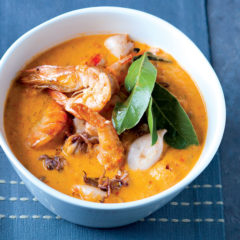 Silky smooth red pepper fish soup