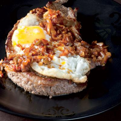 Peri-peri char-grilled steak and fried egg