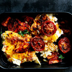 Roast tomatoes for macaroni cheese