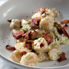 Potato salad with bacon
