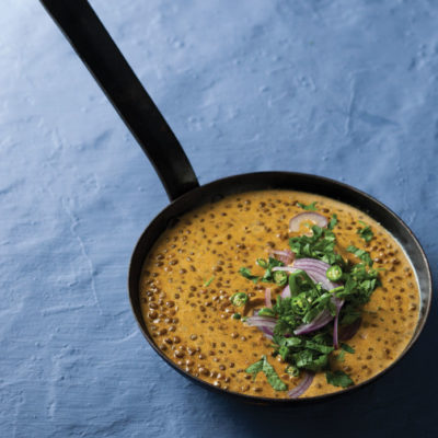 Korma coconut curry with lentils