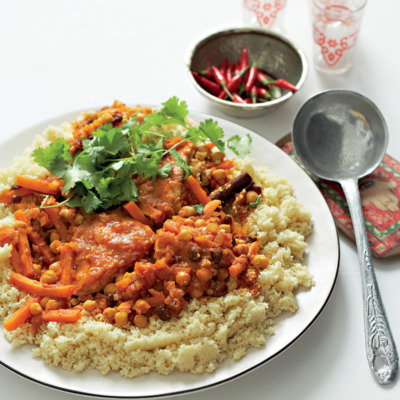 Moroccan fish couscous