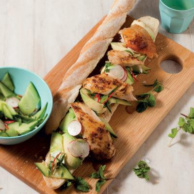Roast spicy chicken sandwich