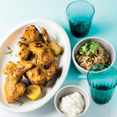 Grilled chicken with spiced coriander rice