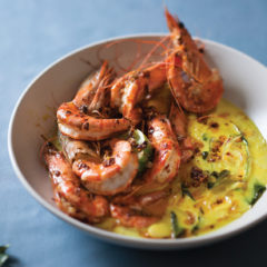 Spicy prawns in coconut sauce
