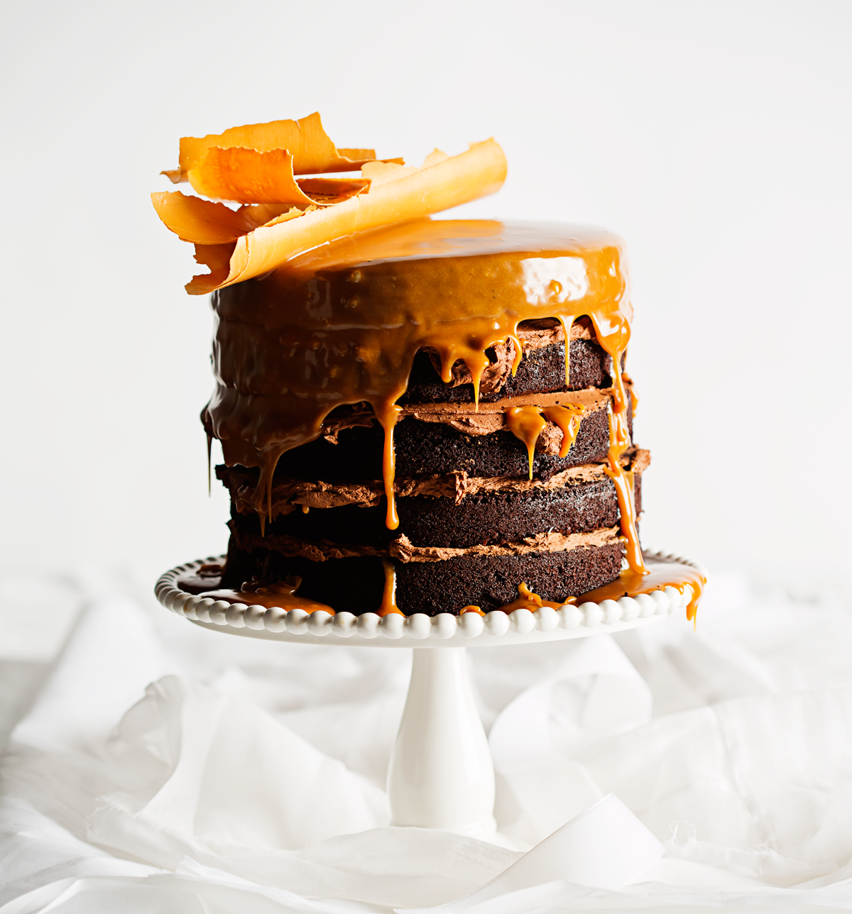 Milk Stout And Chocolate Cake With Butterscotch Sauce