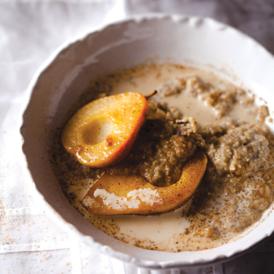 Sweet quinoa cooked in almond milk