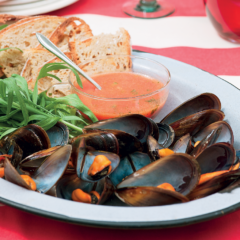 Mussels with tomato vinaigrette