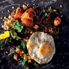 Spinach-and-roast-butternut fried rice