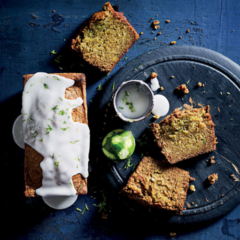 Avocado-and-lime loaf cake with lime drizzle