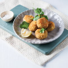 Fish-and-feta cakes