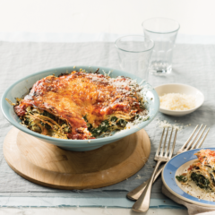 Spinach-and-ricotta pancake lasagne