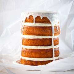 Pina colada lemon yoghurt cake