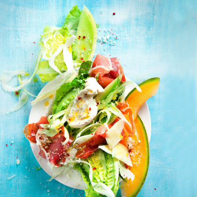 Serrano ham and melon salad
