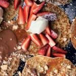 Pancakes with strawberries and cream recipe
