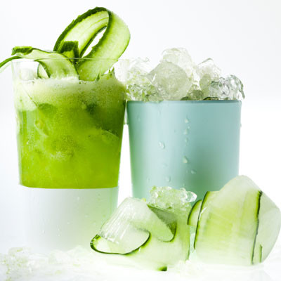 Fresh cucumber-and-gin cocktail