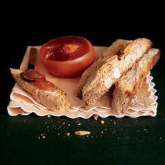 Almond, vanilla and lime biscotti with amaretto