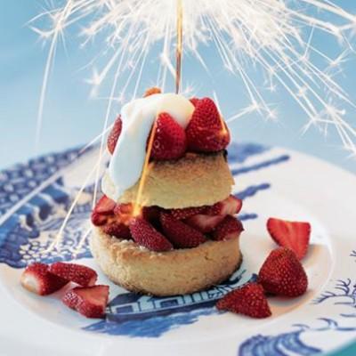 American strawberry shortcake