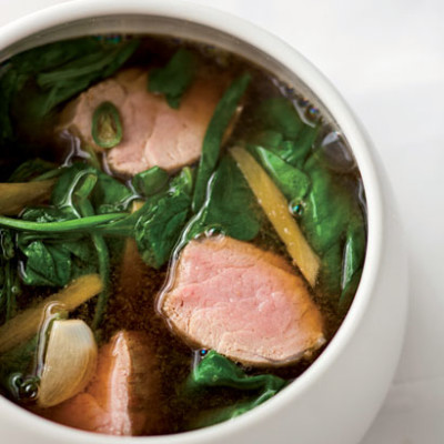 Asian ginger and pork broth