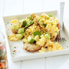 Avocado Cajun scrambled eggs