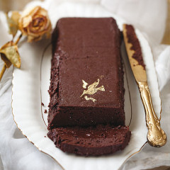 Baked chocolate pate