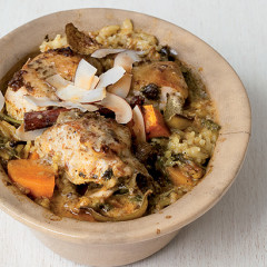 Baked coconut and chicken curry