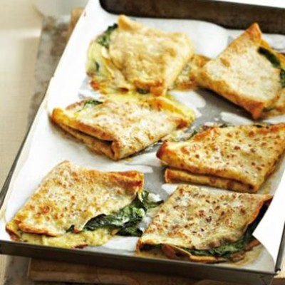 Baked Swiss chard and gruyere pancakes