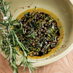 Balsamic, rosemary and caper marinade