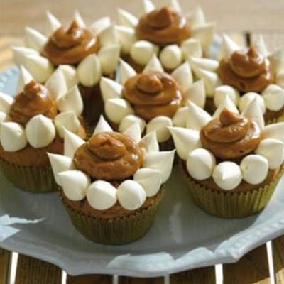 Banana and chocchip caramel cupcakes