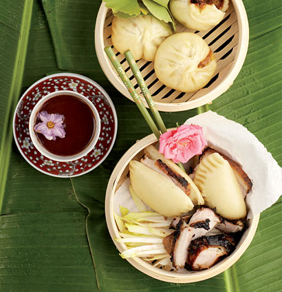 Bao (steamed buns) with barbecued pork and Hoisin sauce   Woolworths TASTE