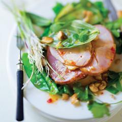 Beech-smoked gammon with Asian salad