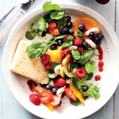 Berry-and-cheese fruit salad