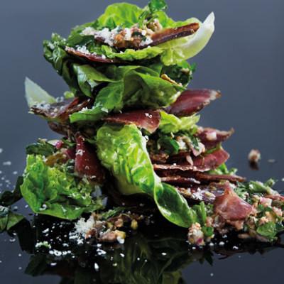 Biltong salsa verde salad