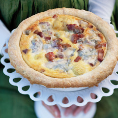 Blue cheese, gammon and cauliflower tart