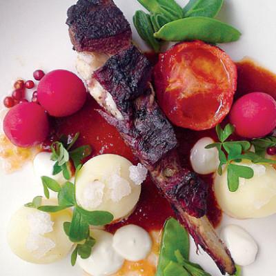 Boerbok rib with tomato bredie