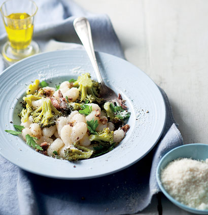 Braised broccoli on gnocchi with anchovy-garlic oil | Woolworths TASTE