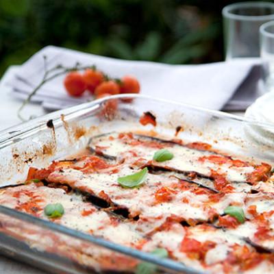 Brinjal pizza