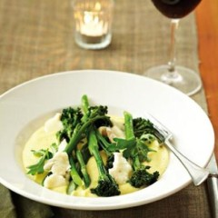 Broccoli and gorgonzola polenta