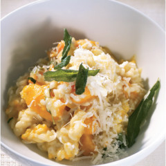 Butternut and goats milk cheese risotto