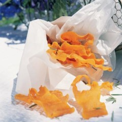 Butternut crisps with fresh rosemary