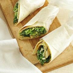 Caesar-style salad wraps
