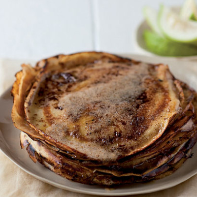 Caramelised buttery pancakes