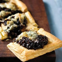 Caramelised onion and blue cheese tart