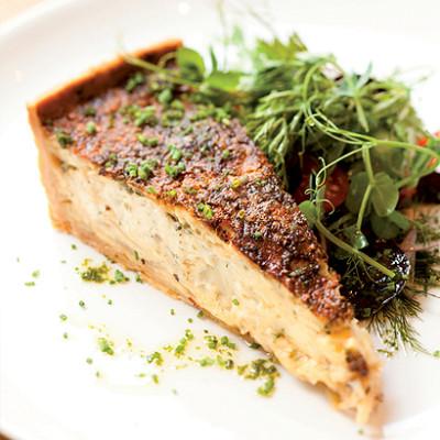 Cauliflower and gruyere tart