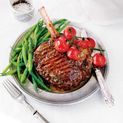 Chargrilled prime rib with anchovy butter
