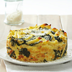 Cheese-and-swiss chard pasta bake